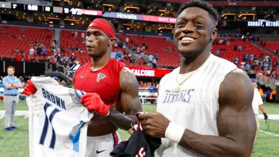 A.J. Brown trying to recruit Julio Jones to Titans